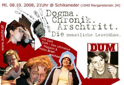 Dogma Chronik Arschtritt Lesebühne Wien